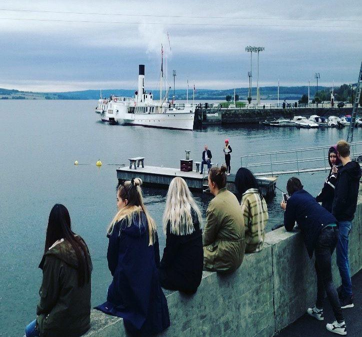 Studenter på befaring i Mjøsregionen